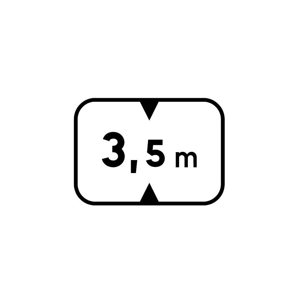 Panonceau Hauteur maximum du véhicule personnalisable - M4v