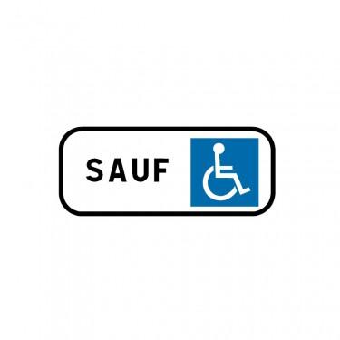 Panonceau Stationnement réservé aux handicapés PMR - M6h