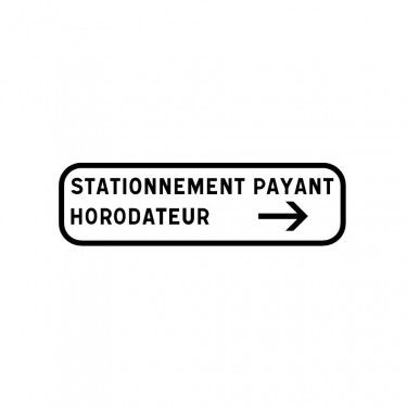 Panonceau Stationnement payant sans parcmètre - M6e