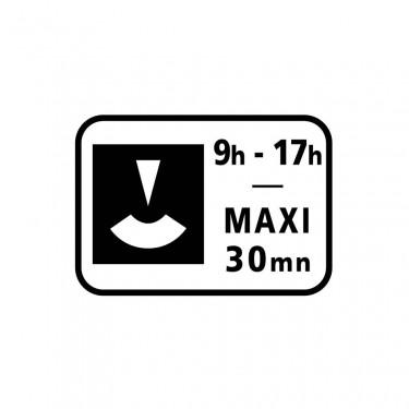 Panonceau Durée maximum du stationnement avec contrôle par disque personnalisable - M6c