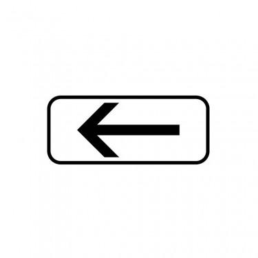 Panonceau Section de stationnement sur la droite avec étendue personnalisable - M8e