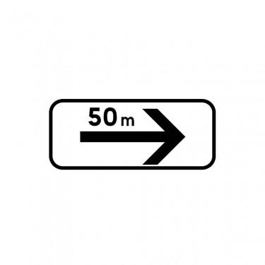 Panonceau Section de stationnement sur la gauche - M8d2