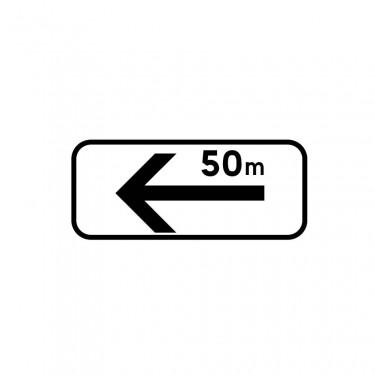 Panonceau Section de stationnement sur la gauche avec étendue personnalisable - M8e2