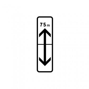 Panonceau Rappel de section de stationnement avant et après avec étendue personnalisable - M8c2