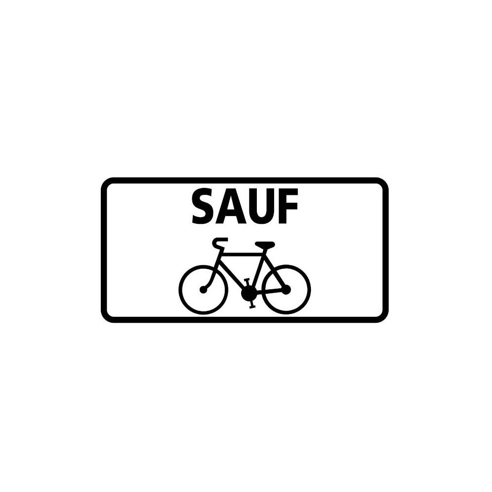 Panonceau Voie autorisée aux vélos - M9v2