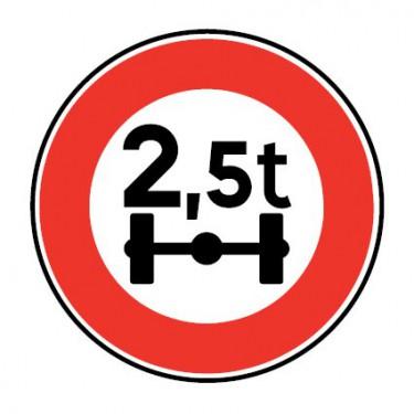 Panneau routier - B13a accès interdit aux véhicules , véhicules articulés, train double ou ensemble de véhicules ayant un …