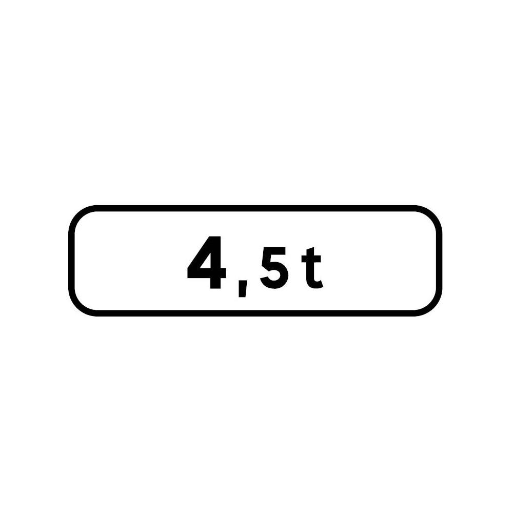 Panonceau Poids total autorisé personnalisable - M4f