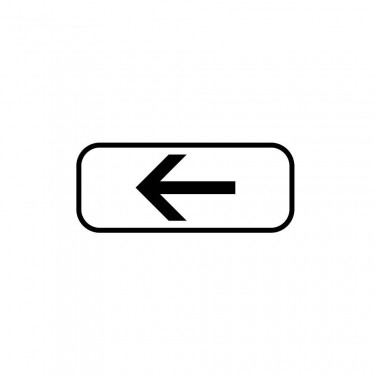 Panonceau Direction à suivre gauche - M3b2