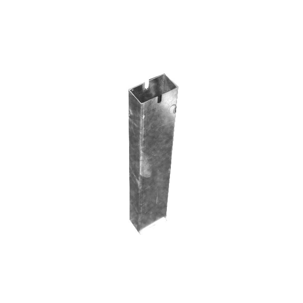 Fourreau en acier galvanisé rectangle 80x40mm