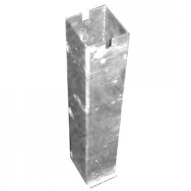 Fourreau en acier galvanisé carré 80x80mm