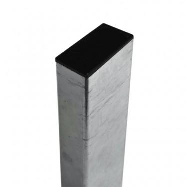 Poteau en acier galvanisé rectangle 80x40mm