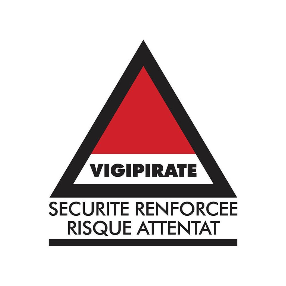 Panneau Vigipirate - Sécurité renforcée risque attentat