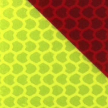 Bande alternée rétroréfléchissante adhésive chevrons jaune et rouge