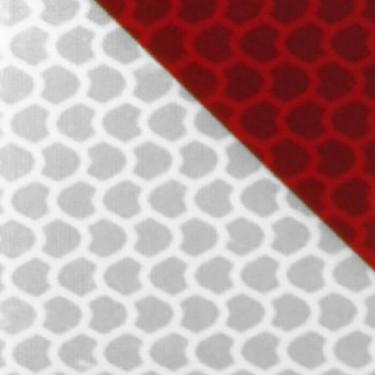 Bande à chevrons réfléchissants blanc et rouge classe B - Nikkalite