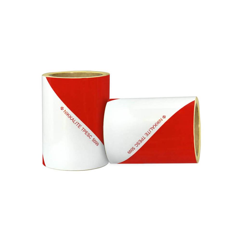 Bande à chevrons réfléchissants blanc et rouge de Classe A pour véhicule de travaux