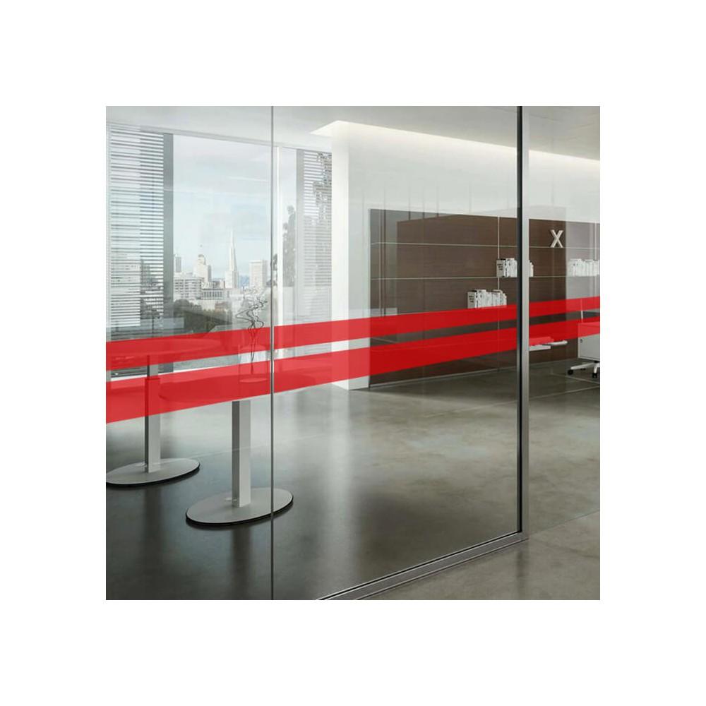Bande adhésive de sécurité pour vitre rouge