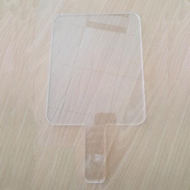 Ecran de protection faciale à main en plexiglas