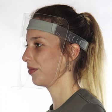 Visière de protection du visage en plastique
