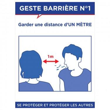 Panneau Geste barrière n°1