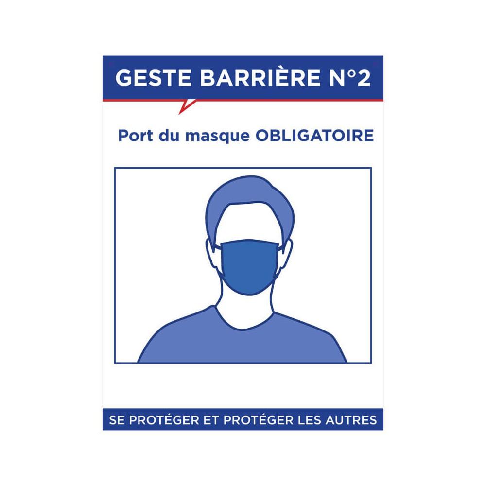Panneau Geste barrière n°2
