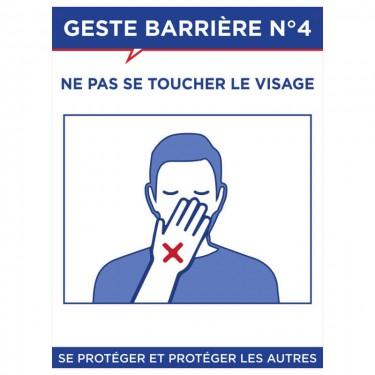 Panneau Geste barrière n°4