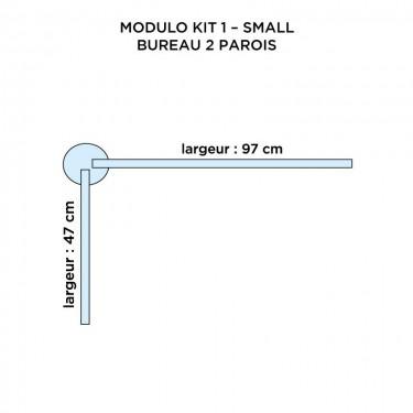Vitre de protection de bureau modulable en plexiglas - MODULO