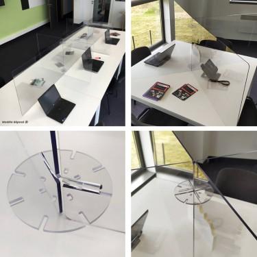 Cloison de séparation de bureau en plexiglas pour open space - MODULO