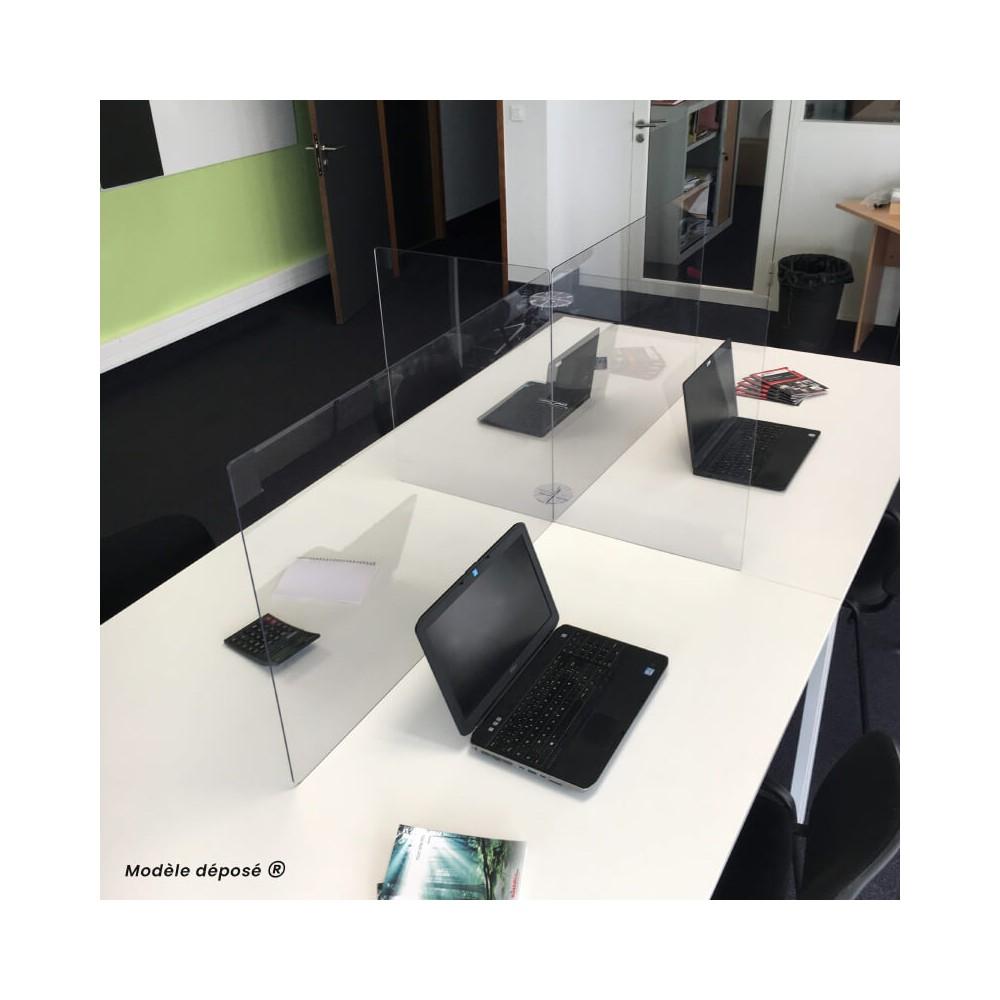 Séparateur de bureau en plexiglas pour open space - MODULO