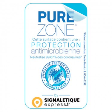 Autocollant Surface protégée par film antimicrobien PURE ZONE®