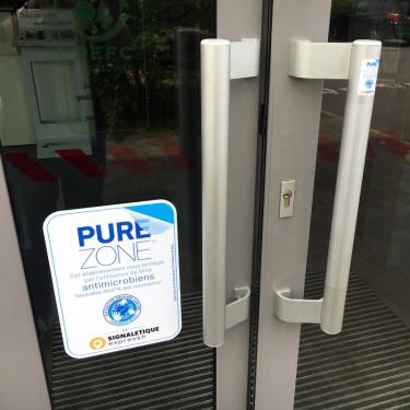 Film antimicrobien PURE ZONE® transparent pour toutes surfaces