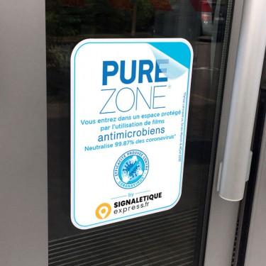 Sticker Espace protégé par film antimicrobien PURE ZONE®