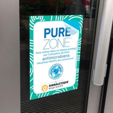 Autocollant Espace protégé par film antimicrobien PURE ZONE®