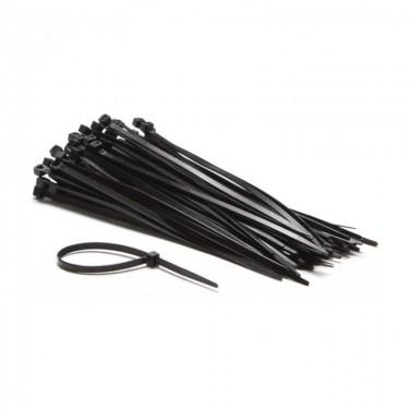 Lot de 10 colliers de serrage en plastique noir - 38 x 0,8 cm