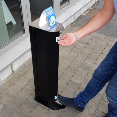 Distributeur de gel hydroalcoolique sans contact à pédale - 5L