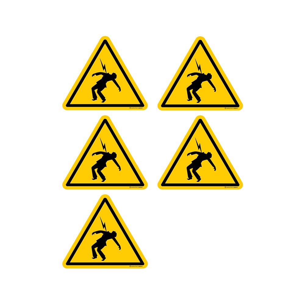 Autocollants Danger haute tension - Lot de 5