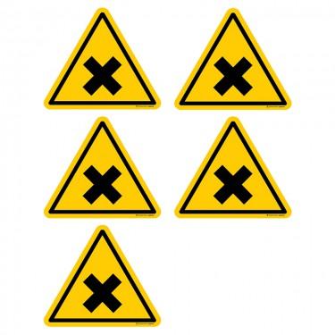 Autocollants Matières nocives ou irritantes - Lot de 5