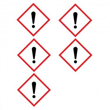 Autocollants Matières nocives ou irritantes SGH07 - Lot de 5