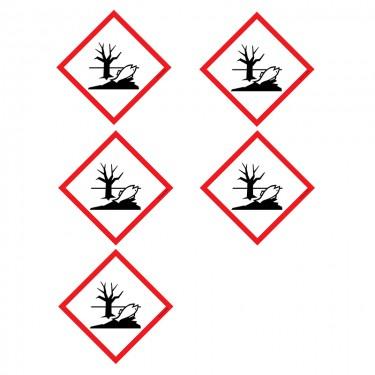 Autocollants Matières dangereuses pour l'environnement SGH09 - Lot de 5