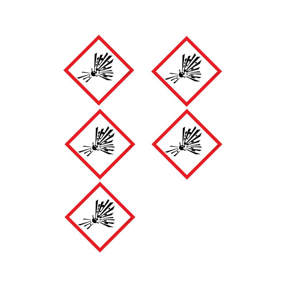Autocollants Matières explosives instables SGH01 - Lot de 5