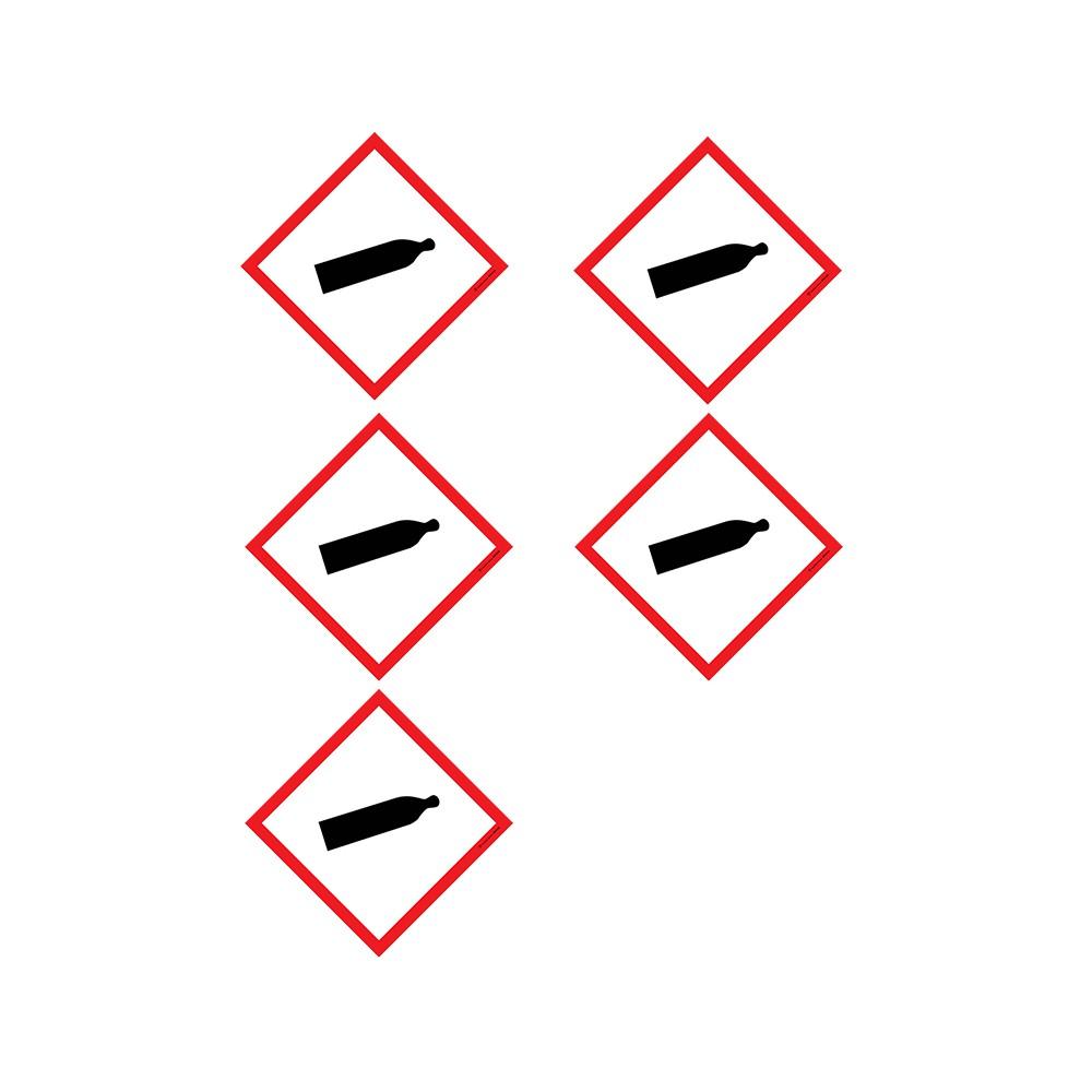 Autocollants Gaz sous pression SGH04 - Lot de 5
