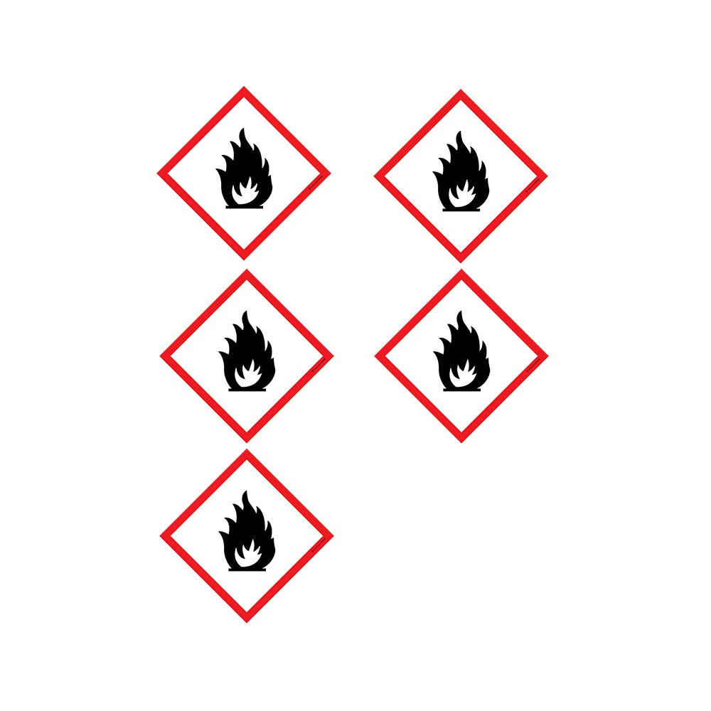 Autocollants Matières inflammables SGH02 - Lot de 5