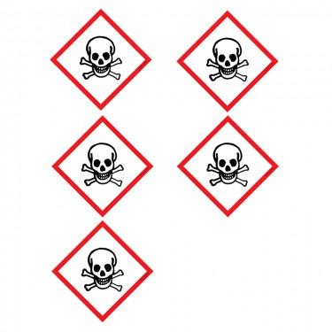 Autocollants Matières toxiques SGH06 - Lot de 5