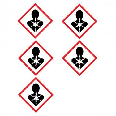 Autocollants Matières à risque important pour la santé SGH08 - Lot de 5