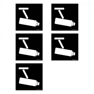 Autocollants Caméra de surveillance - Lot de 5