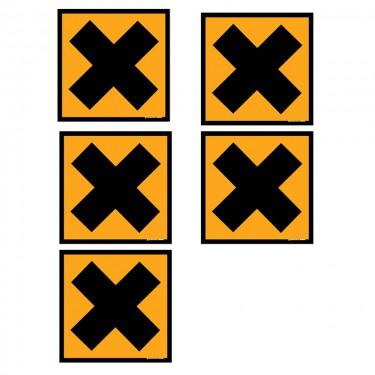 Autocollants Nocif irritant - Lot de 5