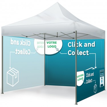 Tente pliante pour Click and Collect