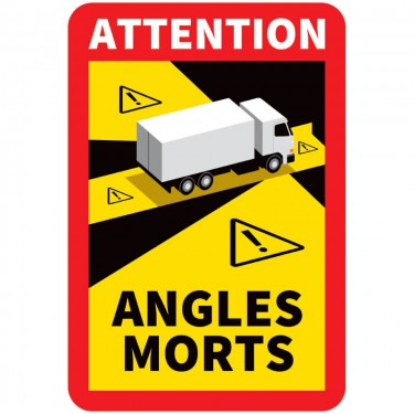 Panneau Angles morts pour camion