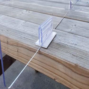 oui Séparateur de table carrée en plexiglas - MODULO