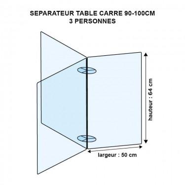 Séparateur de table ronde en plexiglas - MODULO