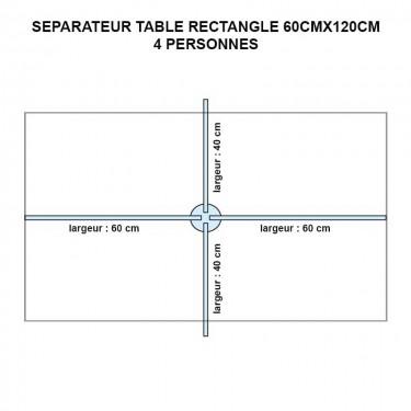 Séparateur de table rectangle en plexiglas - MODULO